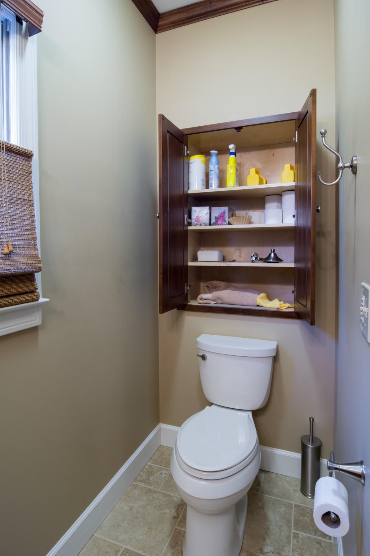 Pic On DIY Network us Made Remade is showing you solutions for small bathroom storage problems
