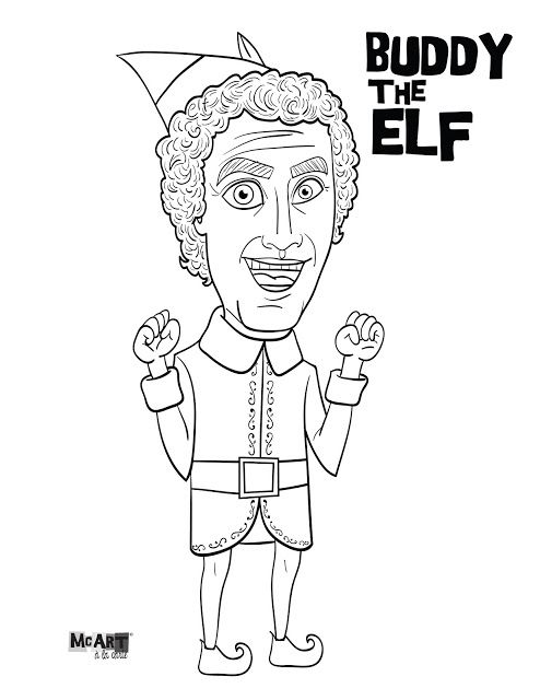 Buddy The Elf 2 Christmas Coloring Pages Buddy The Elf