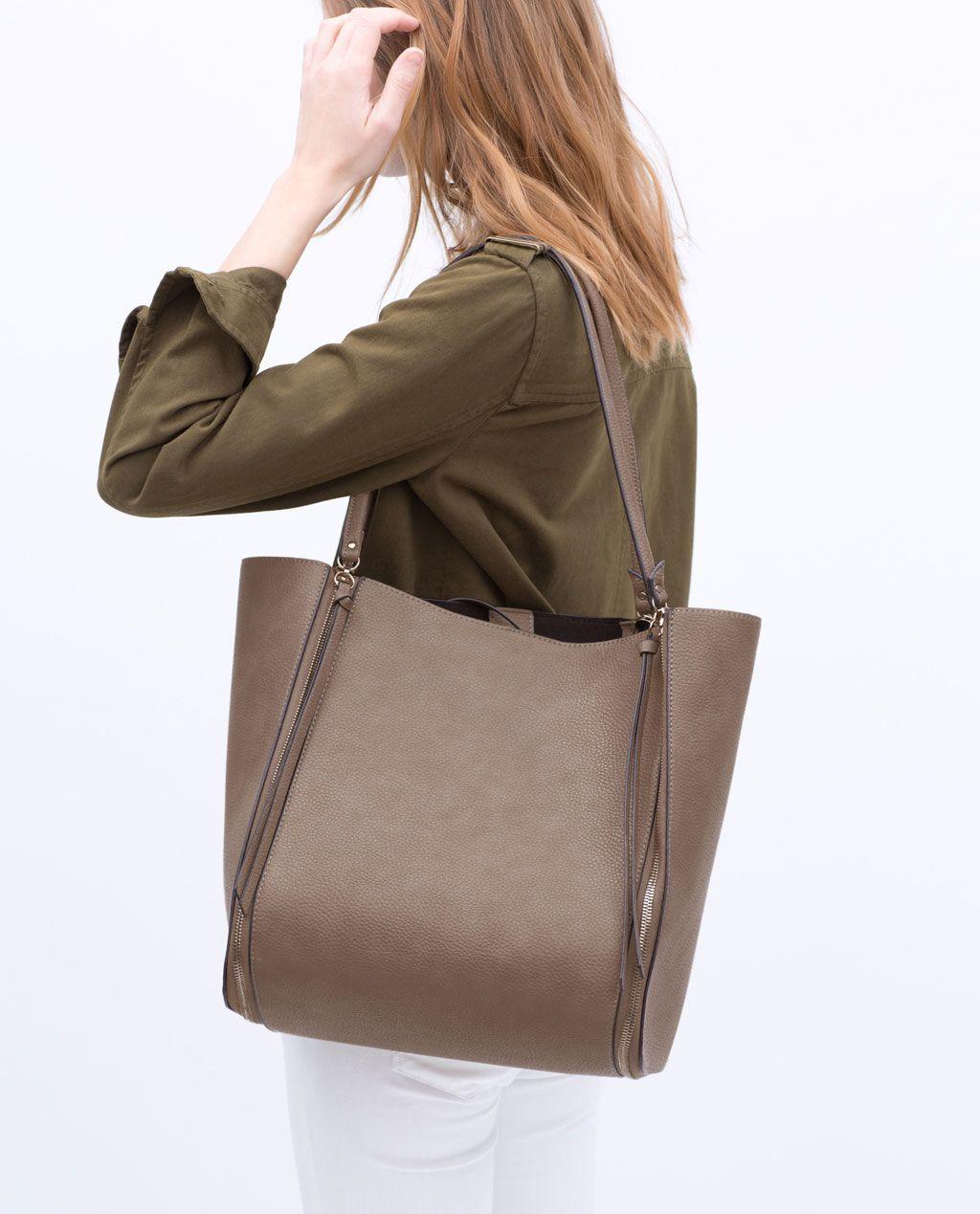 ZIP SHOPPER BAG-View all-Handbags-WOMAN   ZARA United States