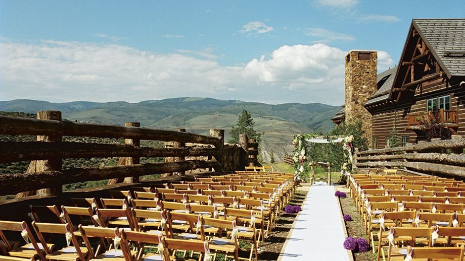 The Skier Bridge Lawn Is A Breathtaking Beaver Creek Outdoor Wedding Venue At Ritz Carlton Bachelor Gulch