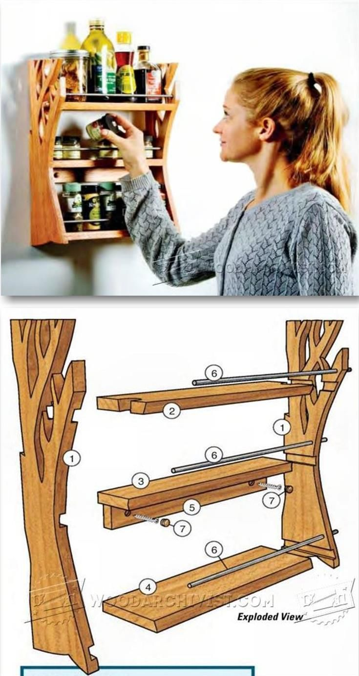 Wooden Spice Rack Plans - Woodworking Plans and Projects | WoodArchivist.com (Woodworking Projects)