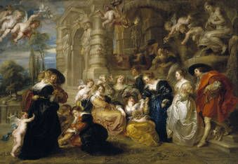 Author Rubens, Peter Paul (Flemish) Title The Garden of Love Chronology Ca. 1633 Technique Óleo Support Lienzo Dimensions 199 cm x 286 cm School Flamenca
