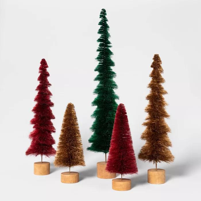 16 5 X 4 7 Bottle Brush Sisal Christmas Tree Threshold Target Bottle Brush Christmas Trees Green Christmas Tree Glass Christmas Tree