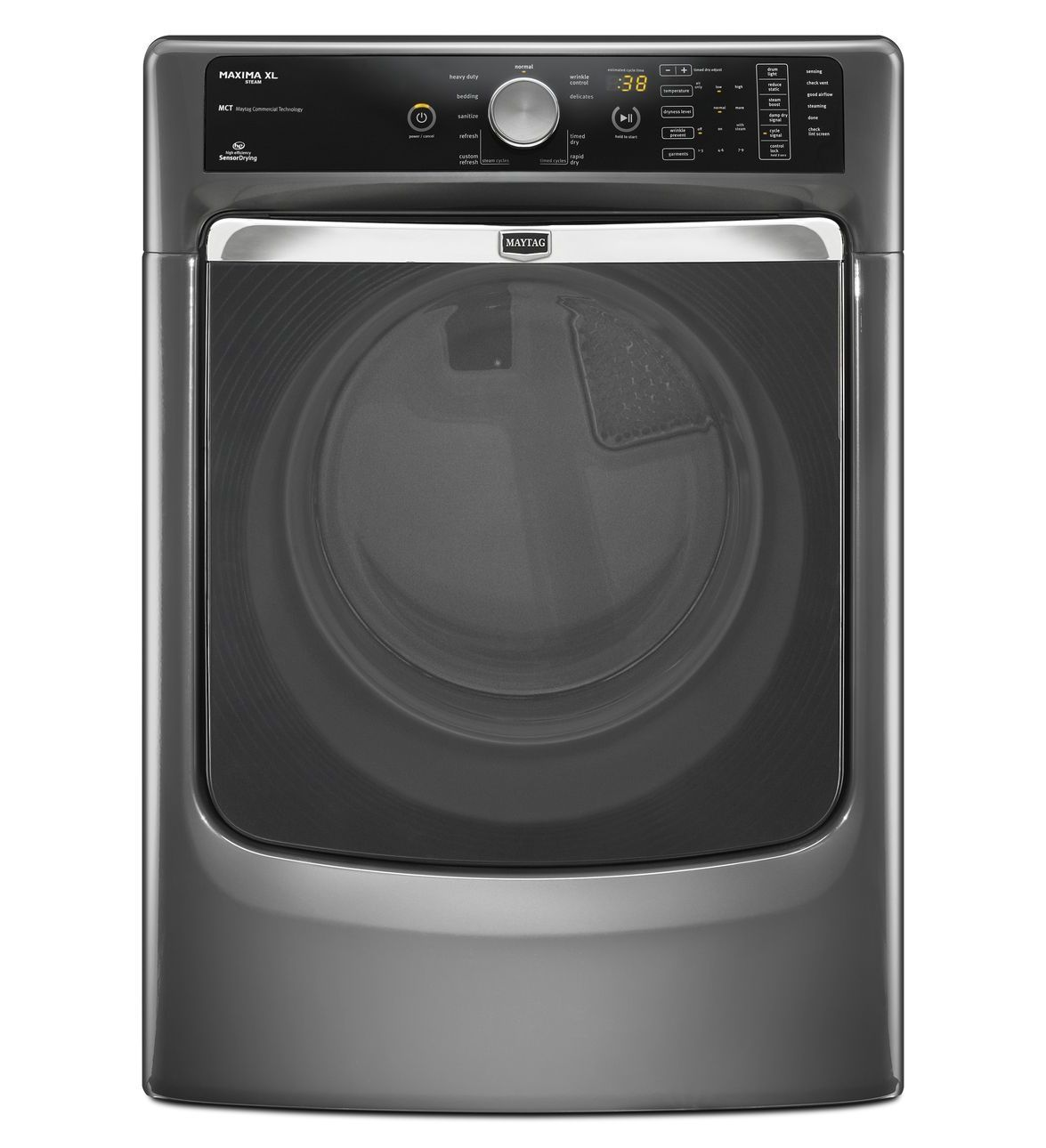 Maxima Xl He Steam Dryer Med7000ag Granite Color With Wrinkle