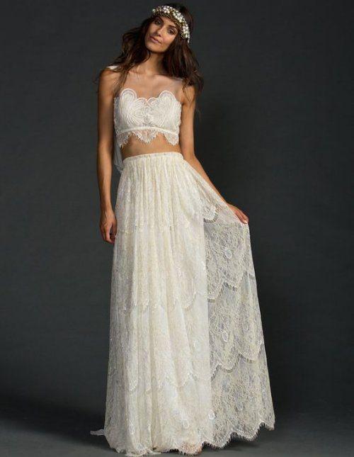 21 Stylish Two Piece Summer Beach Wedding Dresses Two Piece Wedding Dress Summer Wedding Dress Beach Wedding Dress Inspiration
