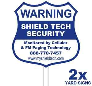 Home Security Signs Yard Signs Poles Stakes Decals Warning For