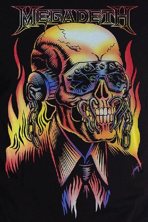 Vic Rattlehead En 2019 Megadeth Bandas De Metal Y Bandas