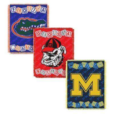 NCAA College Woven Jacquard Baby Blanket/Throw - BedBathandBeyond.com