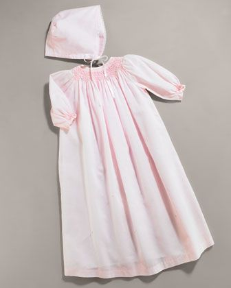 Day Gown & Bonnet by Kissy Kissy at Bergdorf Goodman. | 2 + 1 = 3 ...