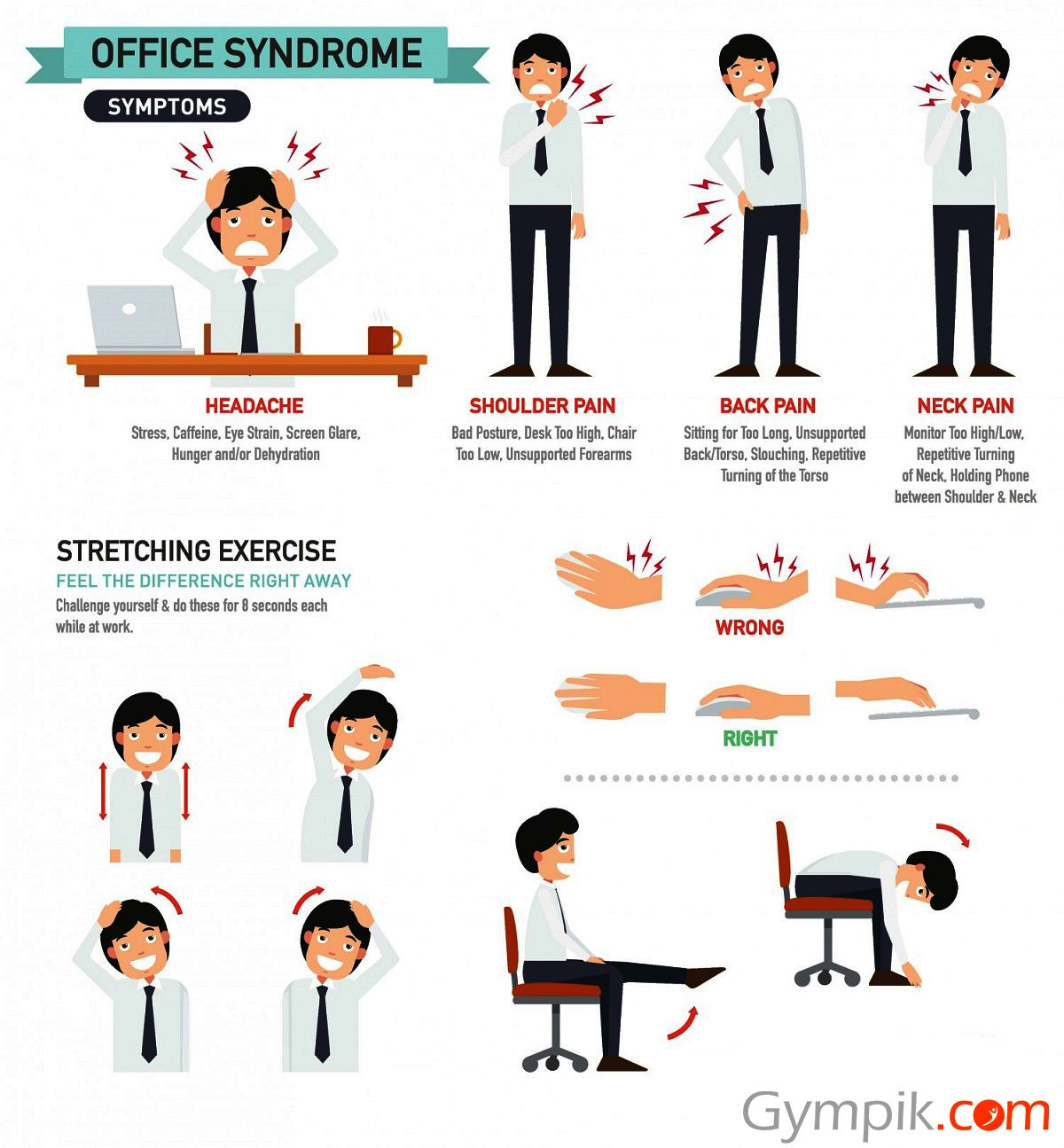 Here are some simple moves for you to take small breaks