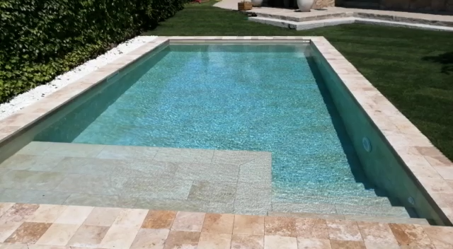 Coronacion Piscina Travertino Jbernardos Coronacion Jbernardos Piscina Travertino In 2020 Pools Backyard Inground Small Backyard Pools Modern Pools