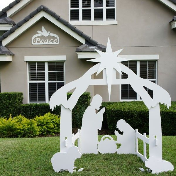 outdoor christmas peace sign with our outdoor nativity set - Peace Outdoor Christmas Decorations