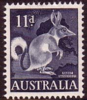 Australia 1959 SG 319 Animal Common Rabbit-Bandicoot Fine Mint Scott 323 Other Australian Stamps HERE