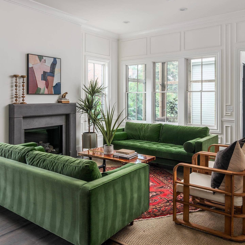 sven grass green sofa  green velvet sofa living room