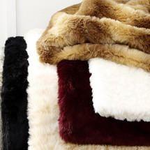 Pure Luxury Faux Fur Throw   Dunelm