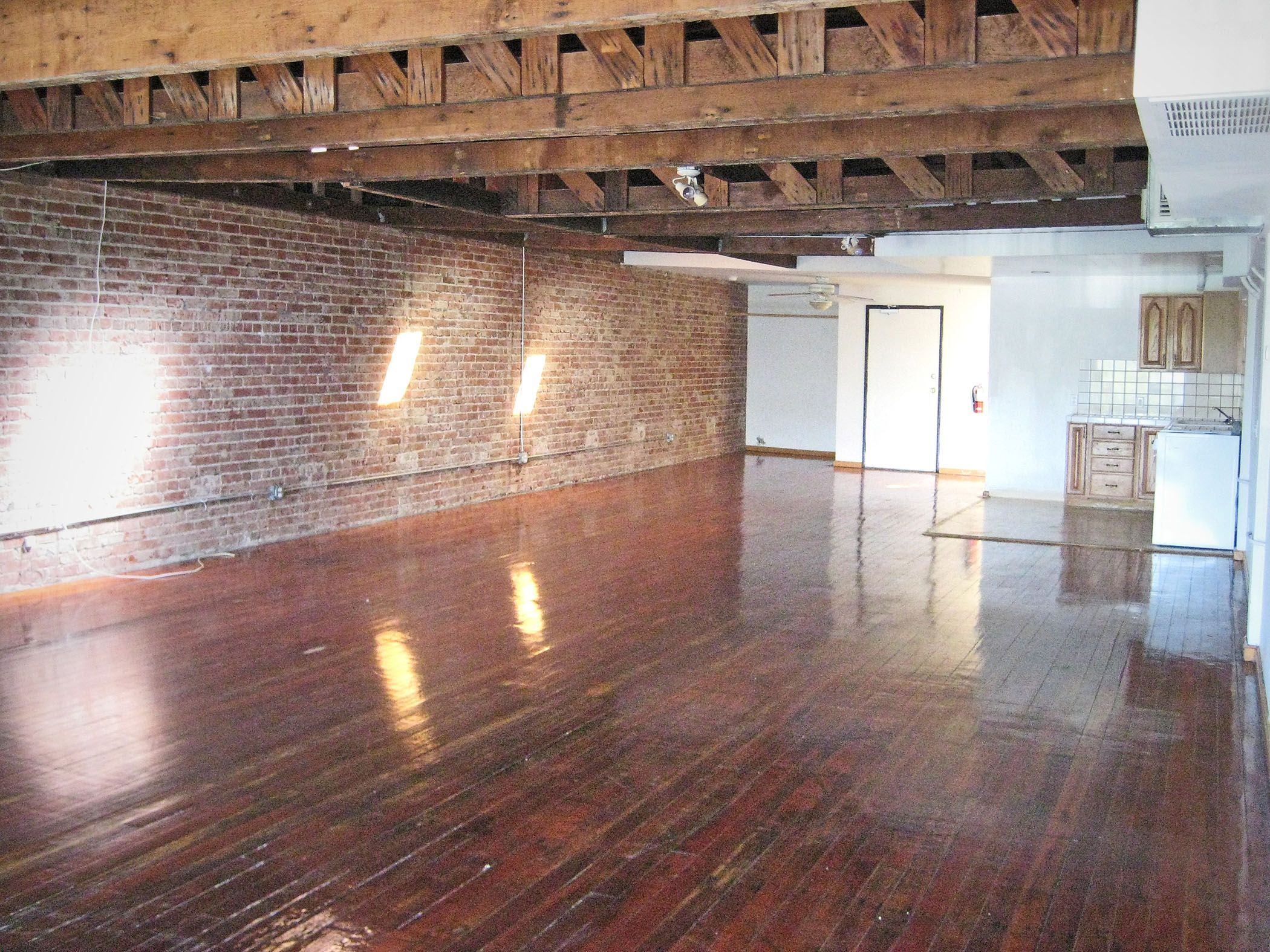 Studio Apartment Brick Wall wright brothers lofts in downtown pomona, ca. loft living, studio