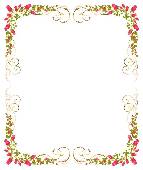 Corner Red Roses Wedding Border Design 2014 sadiakomal Border - certificate borders for word