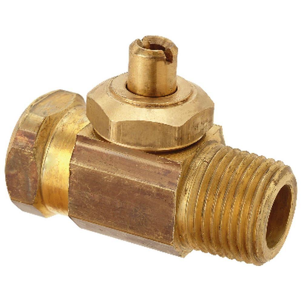 Brasscraft 1 2 In Fip X 1 2 In Mip Integral Shut Off Valve Brass Rough Bolts Washers Water Pipes Shower Valve