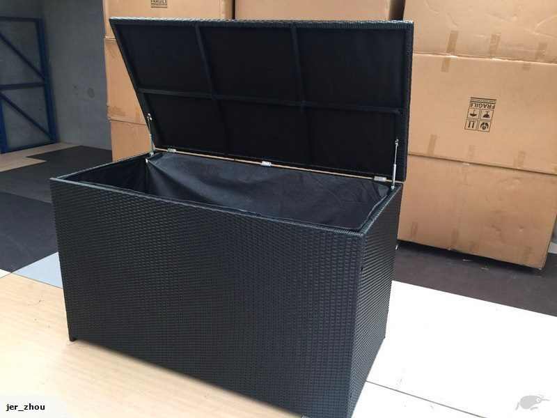 Rattan Outdoor Furniture Cushion Storage Box Large Easy To