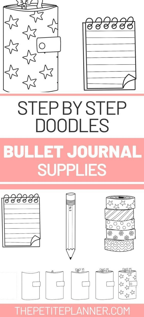 How to: Adorable Stationery Doodles for Your Bullet Journal ⋆ The Petite Planner