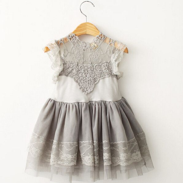 The Isabelle Gray Lace Dress Moda Para Chiquitita Ropa