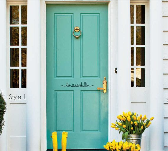 Greet Your Guests With This Fun Modern Farmhouse Style Front Door Decal.  Choose From A