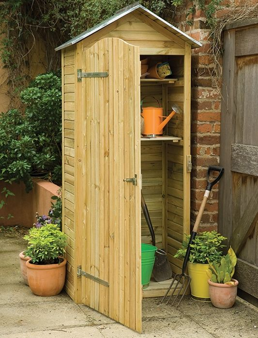 Etonnant Zinc Roofed Tall Garden Sentry Shed From Forest Garden Products