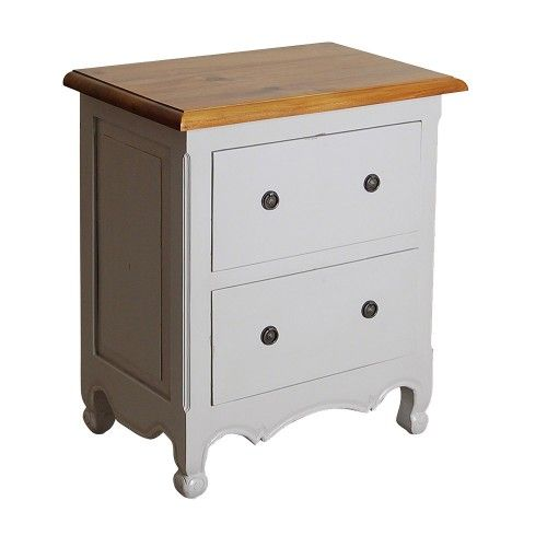 OH Maison 2 Drawer Side Table - French Grey
