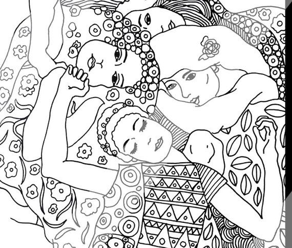 Gustav Klimt Coloring Pages For Adults Digital By Shewhocolors
