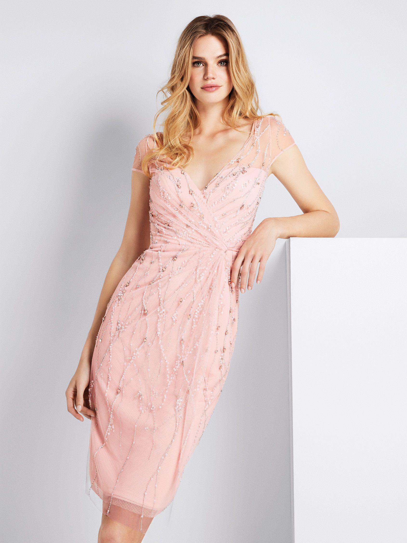 Vestido de cóctel rosa - Colección fiesta 2018 Pronovias | vestido ...