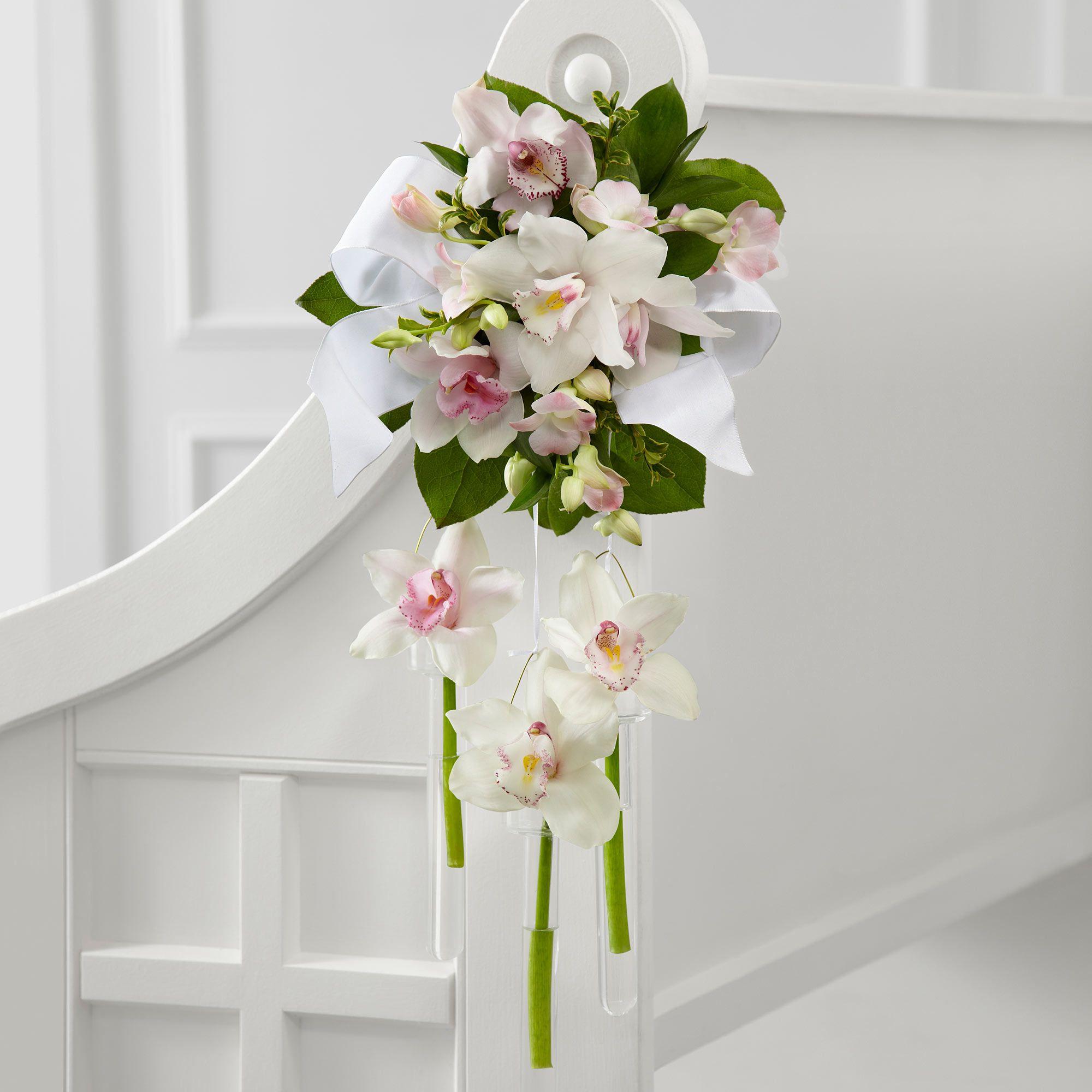 Beautiful Flower Arrangements For Weddings: Beautiful Pew End Floral Arrangement.