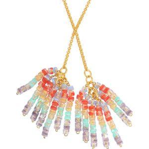 Aris Geldis Tie sautoir with multicoloured beads 0rXMErCUBp