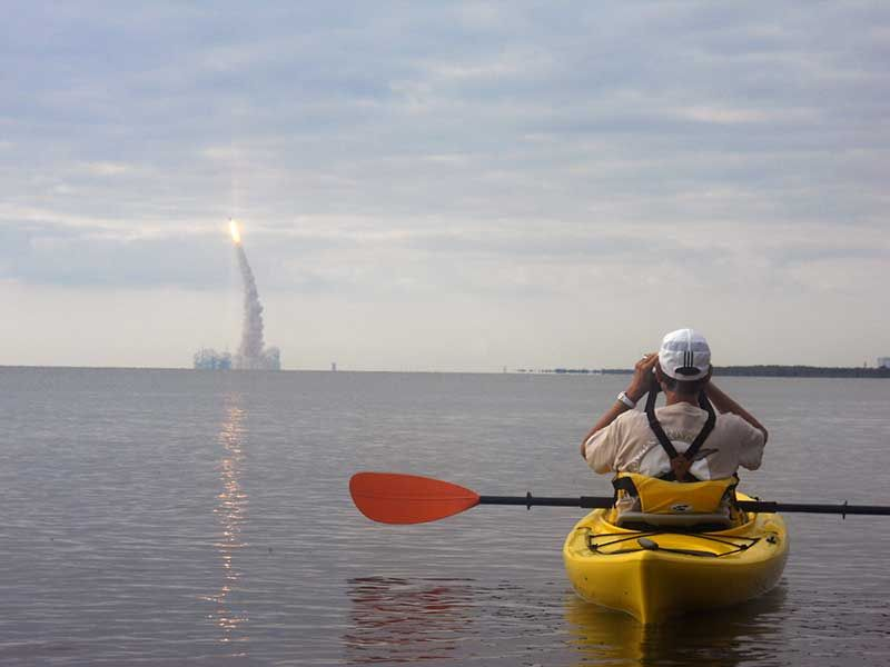 Shuttle Launch From Mosquito Lagoon