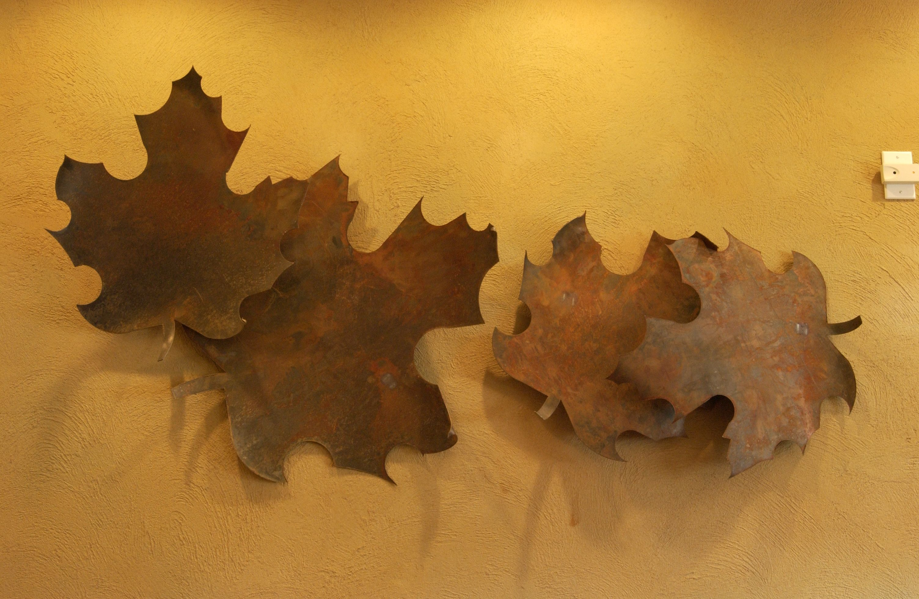 Metal leaves wall art make your own custom wall art with plasmacam