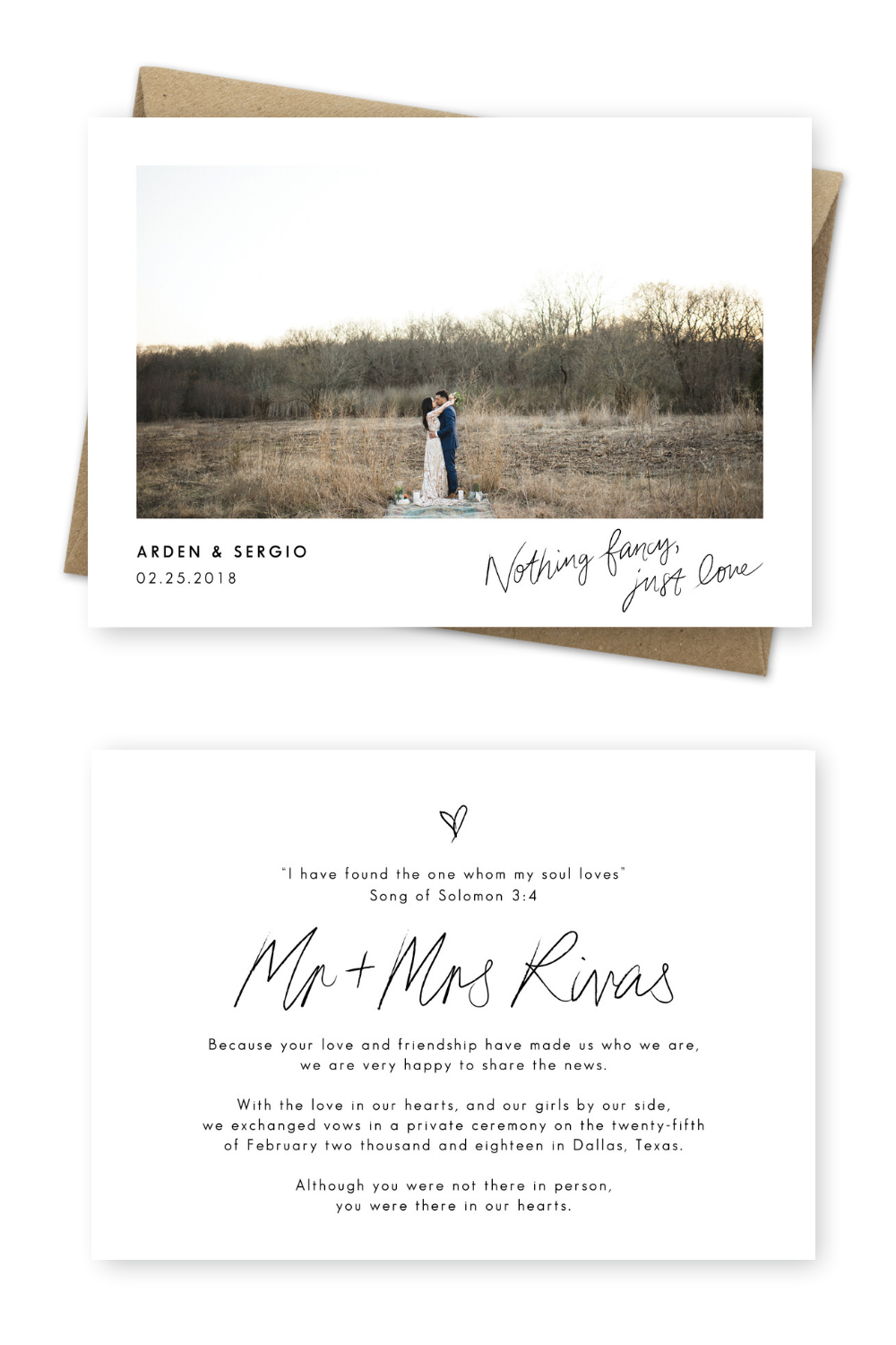 9 Gorgeous Wedding Announcement Cards And Elopement Invitation Ideas Wedding Announcement Cards Elopement Invitation Marriage Announcement
