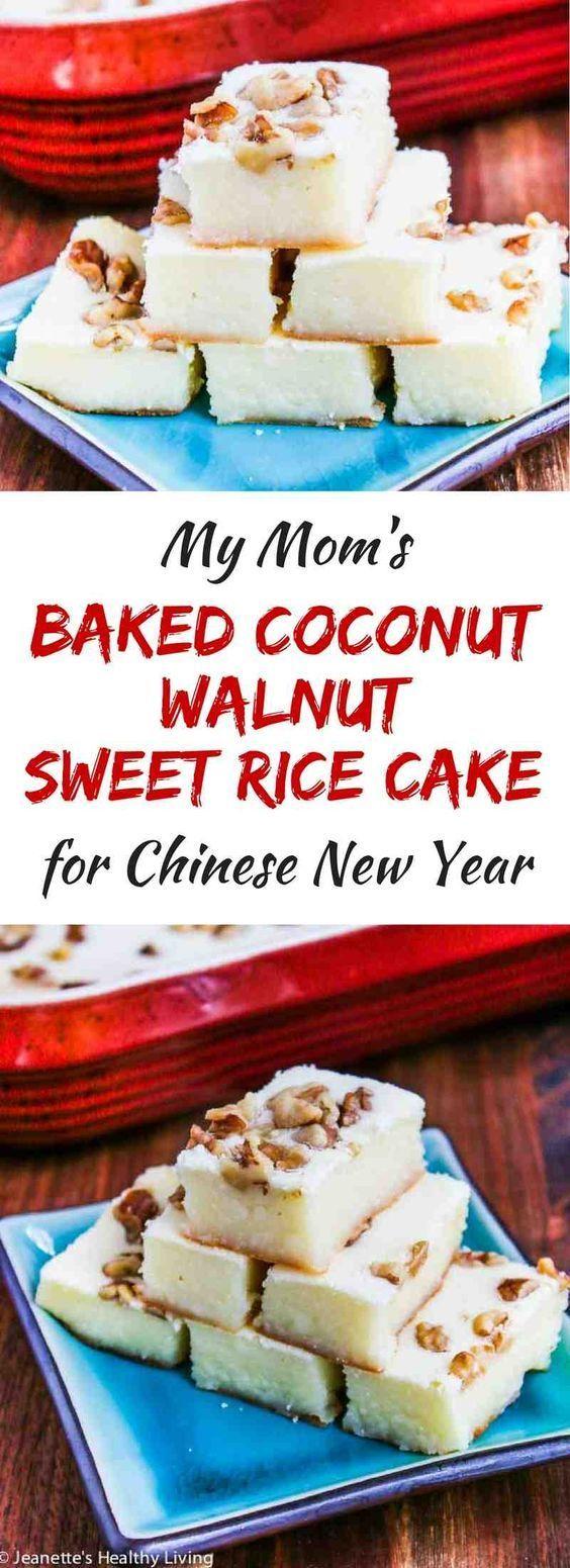 Mom's Baked Coconut Walnut Sweet Rice Cake | Recipe ...