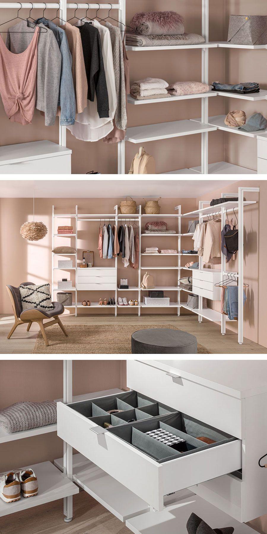 Begehbarer Kleiderschrank Clos It Fur Dachschrage Und Ankleidezimmer In 2020 Ankleide Zimmer Ankleidezimmer Begehbarer Kleiderschrank
