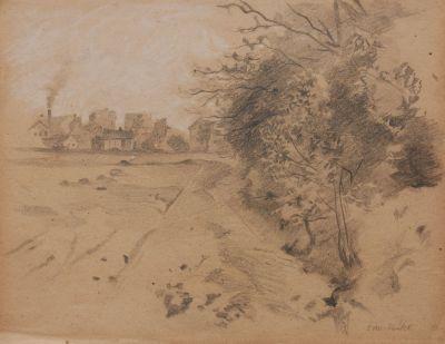 Keitel, Otto (1862-1902)  Dorfansicht um 1880