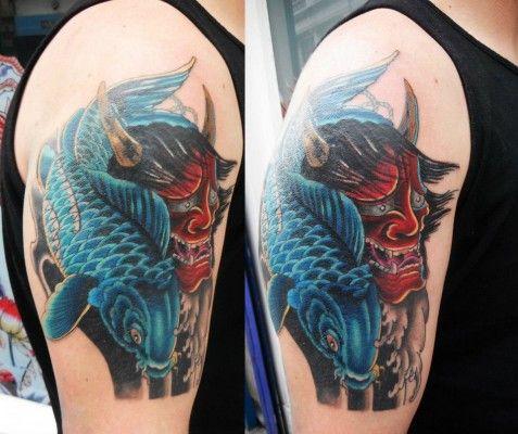 Koi Fish Tattoos Designs 3d Hand Fish And Cross Tattoo Tattoos