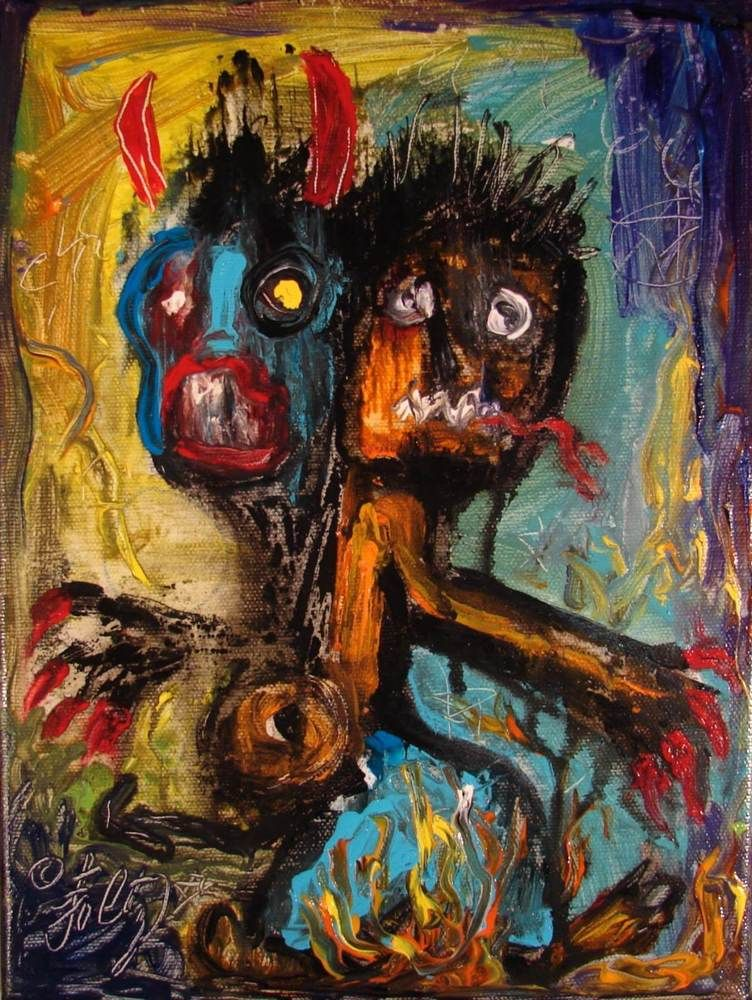 Details about Modernist Expressionist FIGURE Abstract MODERN