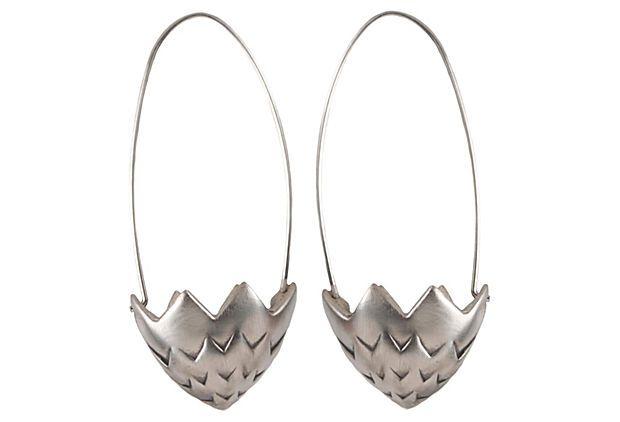 Brister Earrings, Oxidized SS on OneKingsLane.com