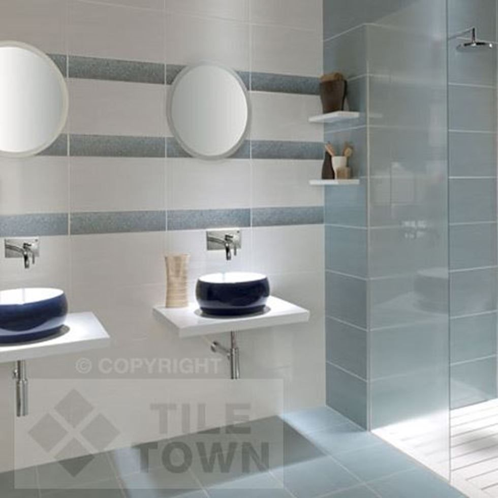 Fox Blanco Azul This Wall Tile Has A Gloss Finish and Would