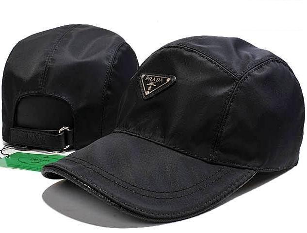 Prada Nylon Baseball Hat Black  8b1577854e6a