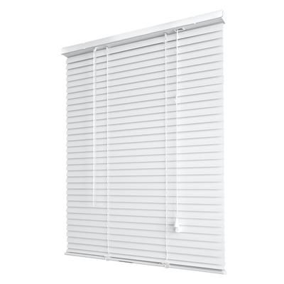 Hampton Bay Alabaster 1 3 8 In Room Darkening Vinyl Mini Blind 47 In W X 48 In L Actual Size 46 5 In W X 48 In L 10793478126712 The Home Depot Vinyl Mini Blinds Mini Blinds Blinds