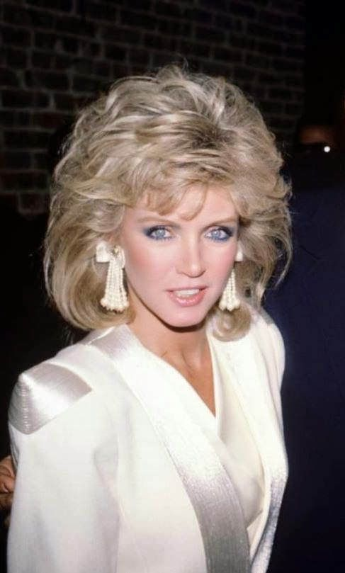 Donna Mills Maybe 1980s hair, Curly hair styles