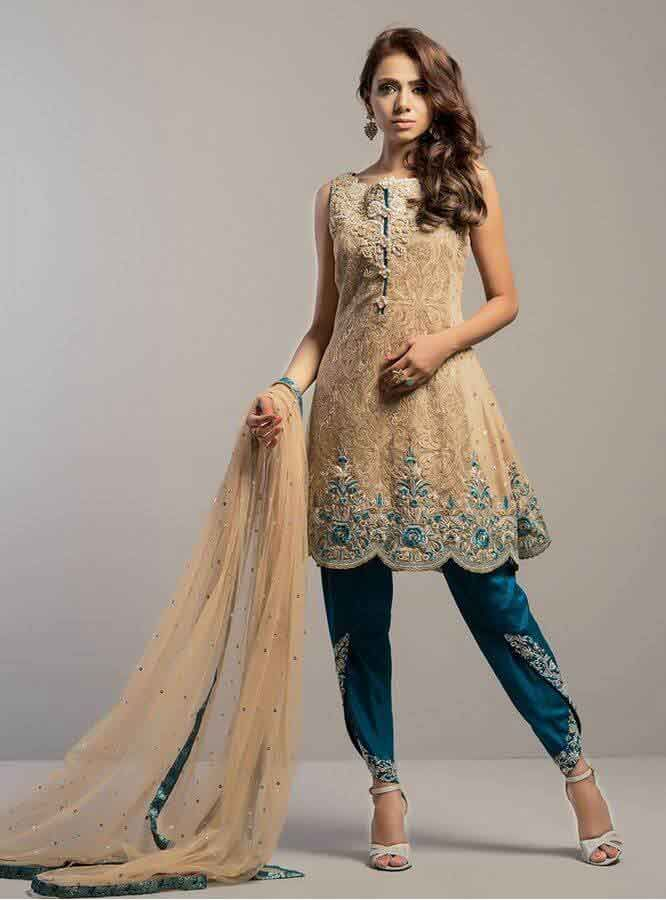 46249505407 Wedding And Party Wear Short Frocks With Sharara 2017