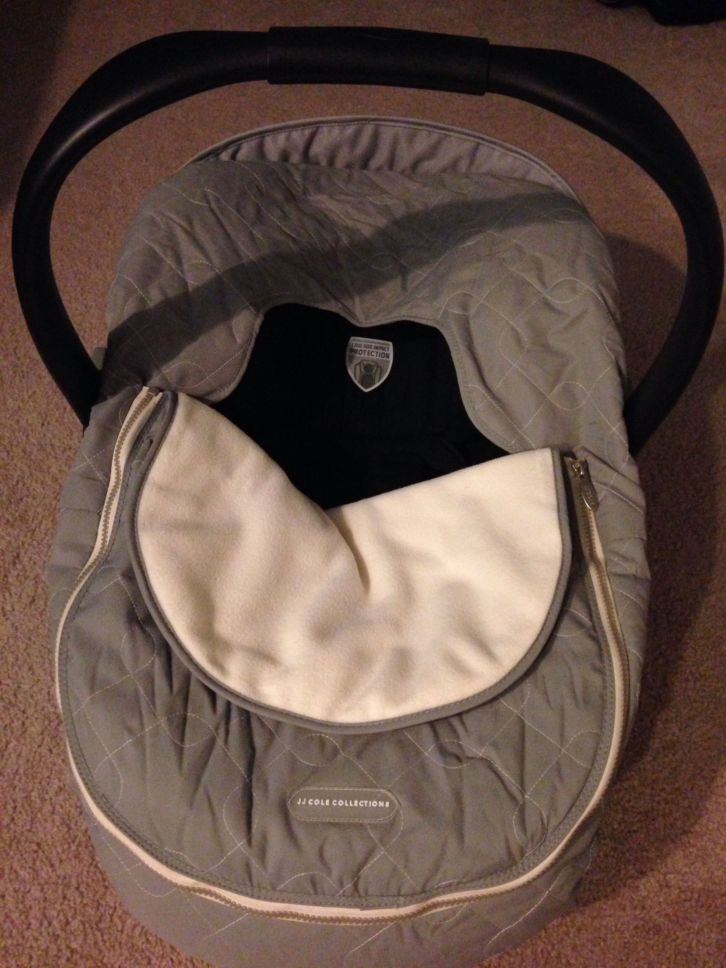 Love My JJ Cole Car Seat Cover Graphite Especially For NY Winter Baby