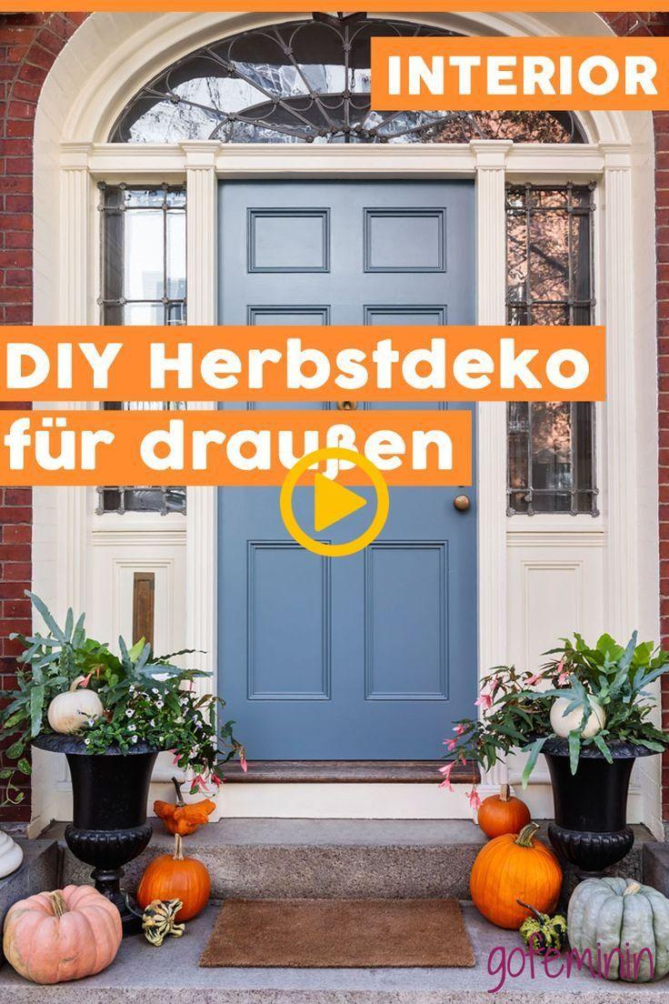 Herbstdeko für draußen: Einfache DIY-Ideen für einen schönen Hauseingang #herbstdekoeingangsbereichdraussen