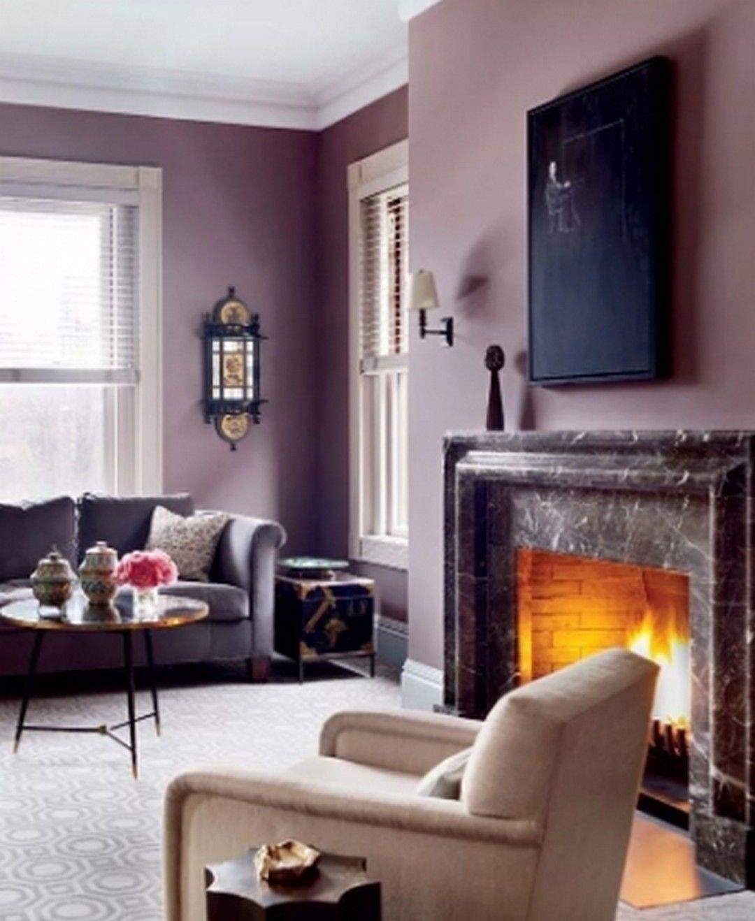6 purple interior design living room with minimalist space