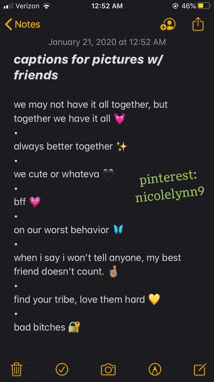 Bestfriend Instagram Captions Pinterest Nicolelynn9 Witty Instagram Captions Instagram Quotes Instagram Captions Clever